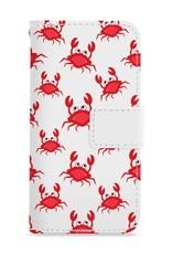 FOONCASE iPhone 8 hoesje - Bookcase - Flipcase - Hoesje met pasjes - Crabs / Krabbetjes / Krabben