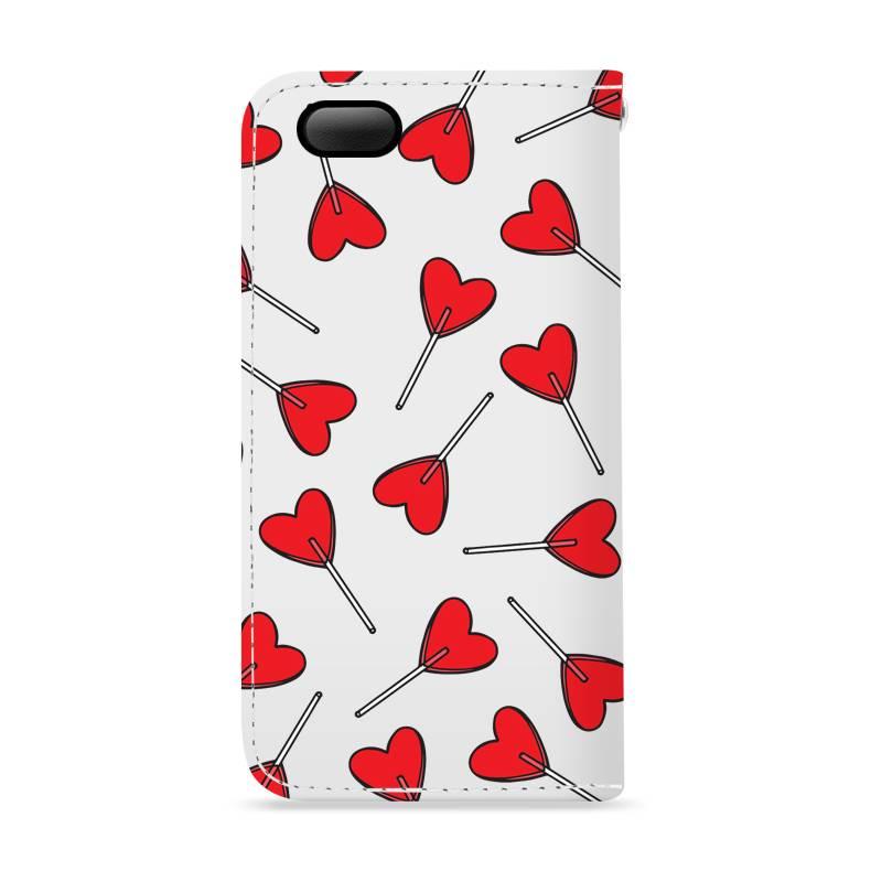 FOONCASE iPhone 6 / 6S hoesje - Bookcase - Flipcase - Hoesje met pasjes - Love Pop
