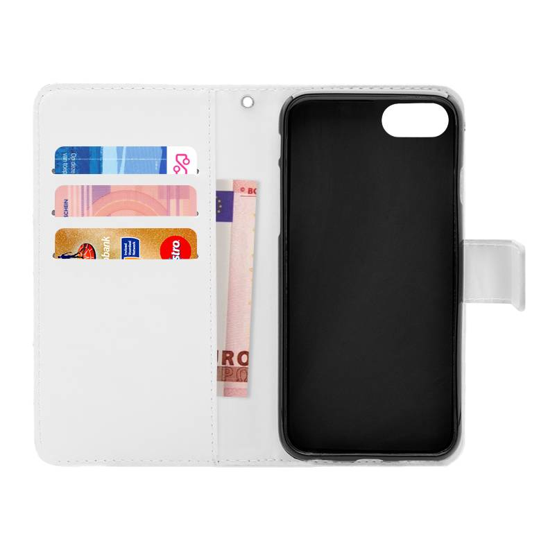 FOONCASE iPhone 8 hoesje - Bookcase - Flipcase - Hoesje met pasjes - Cactus