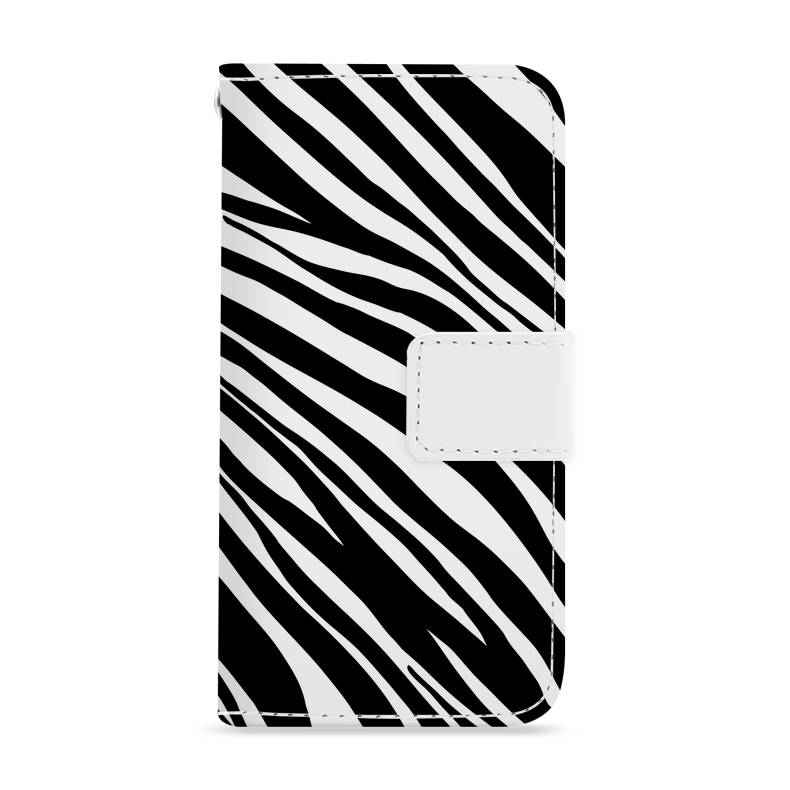 FOONCASE iPhone 7 hoesje - Bookcase - Flipcase - Hoesje met pasjes - Zebra print
