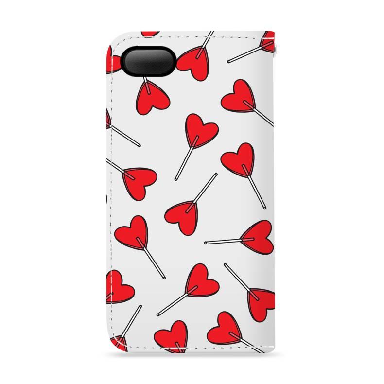 FOONCASE iPhone 7 hoesje - Bookcase - Flipcase - Hoesje met pasjes - Love Pop