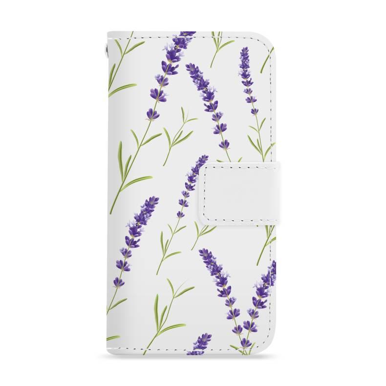 FOONCASE iPhone 7 hoesje - Bookcase - Flipcase - Hoesje met pasjes - Purple Flower / Paarse bloemen