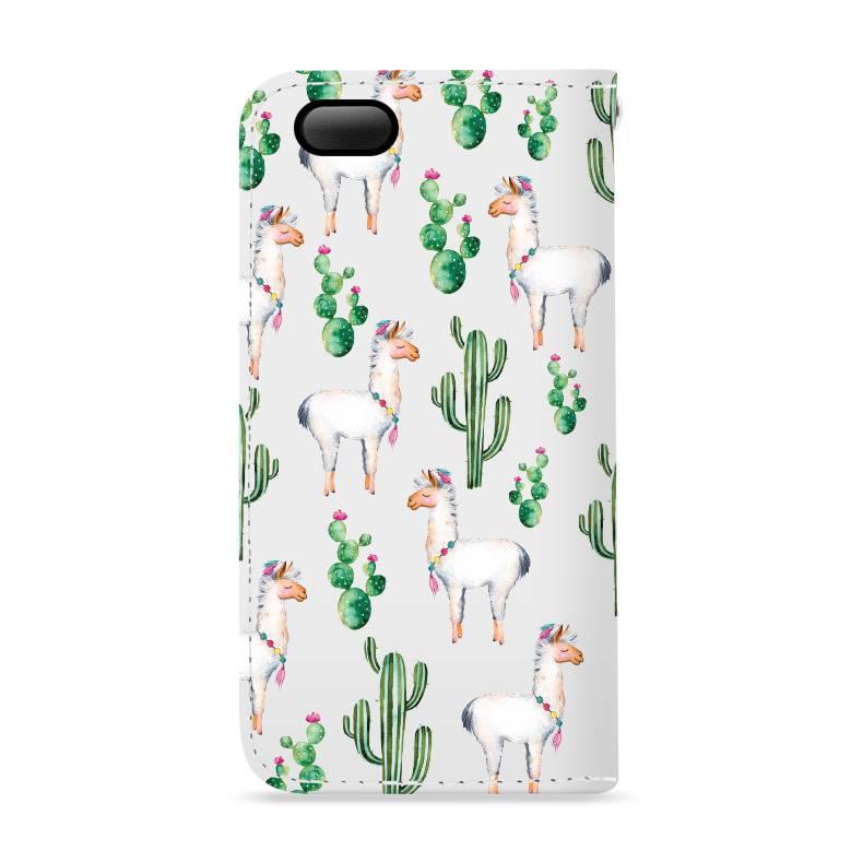 FOONCASE iPhone 6 Plus hoesje - Bookcase - Flipcase - Hoesje met pasjes - Alpaca / Lama