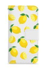 FOONCASE iPhone 6 Plus hoesje - Bookcase - Flipcase - Hoesje met pasjes - Lemons / Citroen / Citroentjes