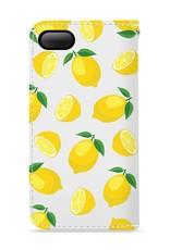 FOONCASE iPhone 7 hoesje - Bookcase - Flipcase - Hoesje met pasjes - Lemons / Citroen / Citroentjes