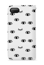 FOONCASE iPhone 7 hoesje - Bookcase - Flipcase - Hoesje met pasjes - Eyes / Ogen
