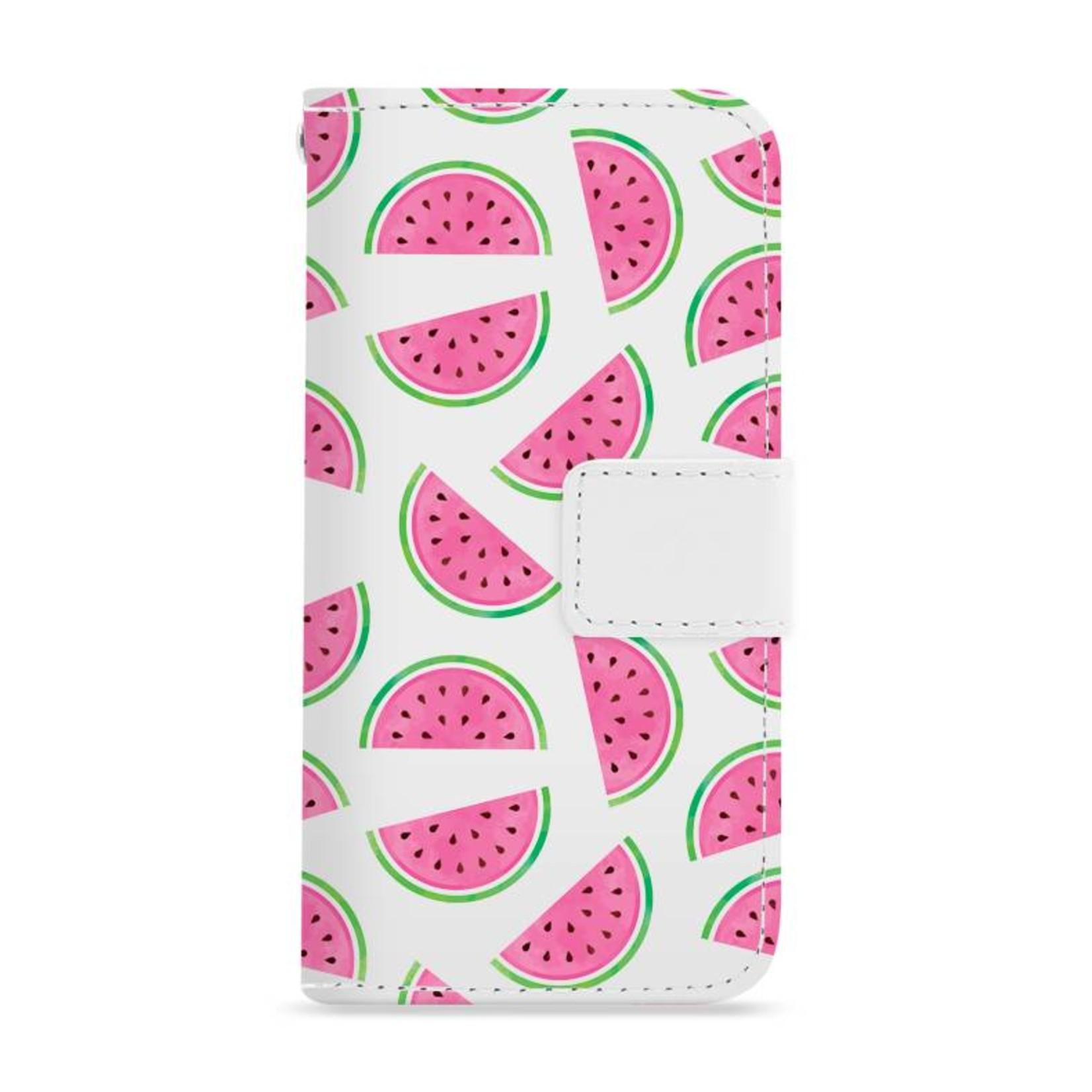 FOONCASE iPhone 6 Plus hoesje - Bookcase - Flipcase - Hoesje met pasjes - Watermeloen