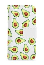 FOONCASE iPhone 7 hoesje - Bookcase - Flipcase - Hoesje met pasjes - Avocado