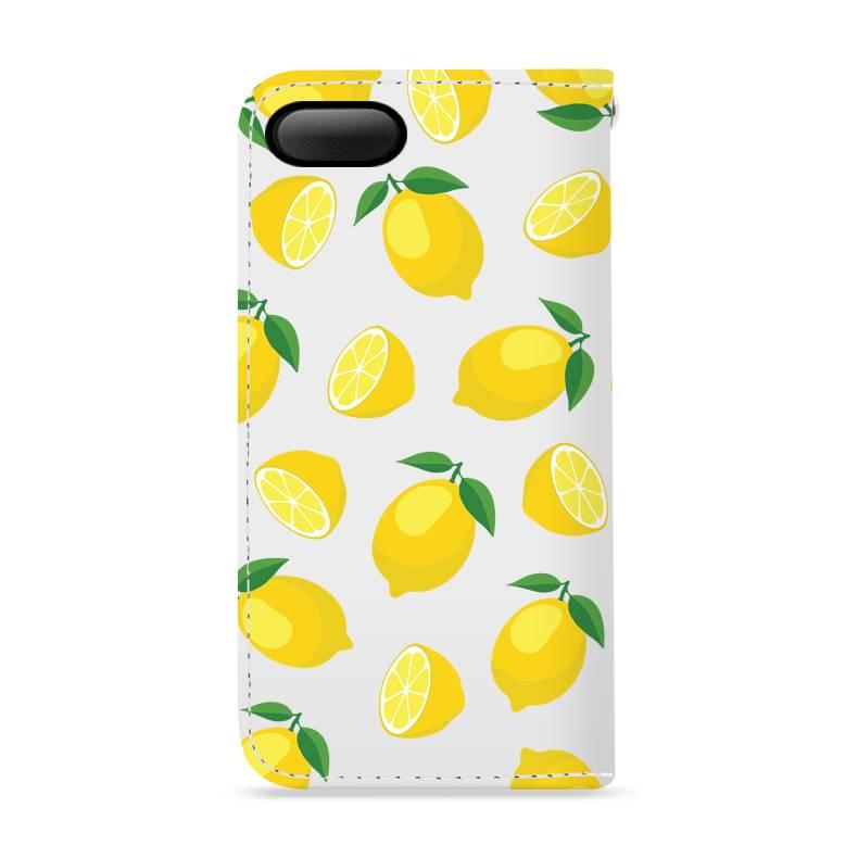 FOONCASE iPhone 7 Plus hoesje - Bookcase - Flipcase - Hoesje met pasjes - Lemons / Citroen / Citroentjes