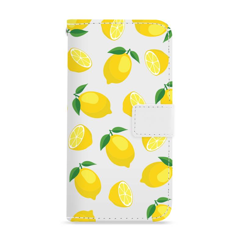 FOONCASE iPhone 8 Plus hoesje - Bookcase - Flipcase - Hoesje met pasjes - Lemons / Citroen / Citroentjes