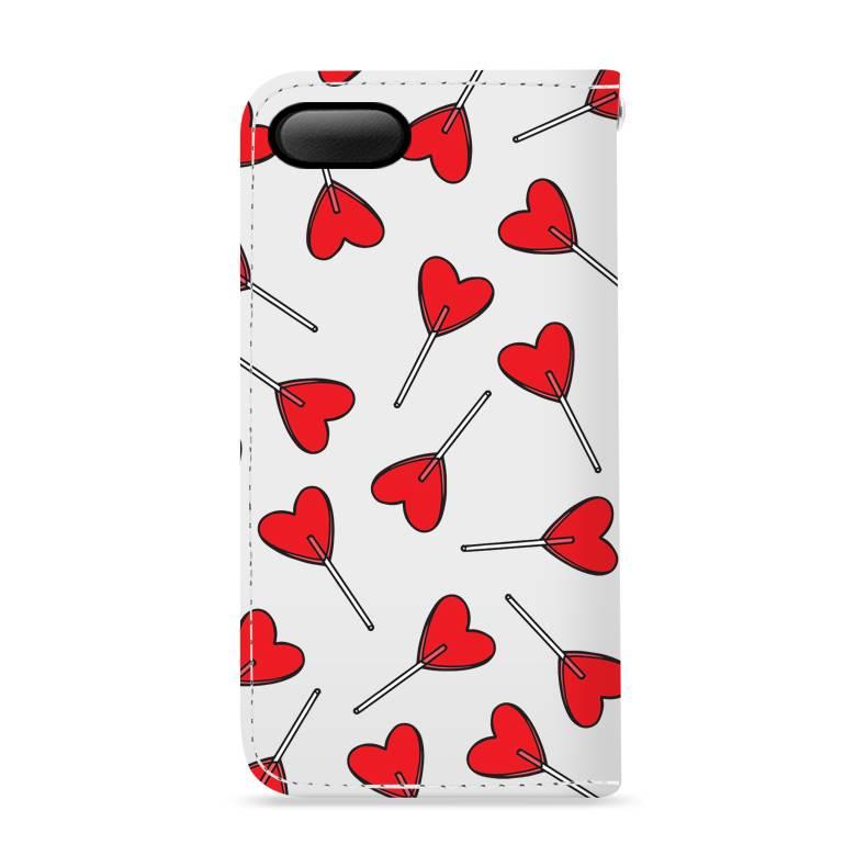 FOONCASE iPhone 8 Plus hoesje - Bookcase - Flipcase - Hoesje met pasjes - Love Pop