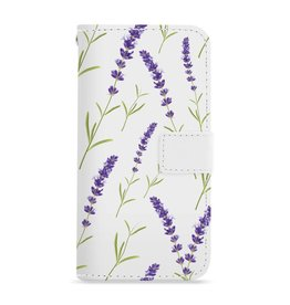 FOONCASE Iphone 8 Plus - Purple Flower - Booktype
