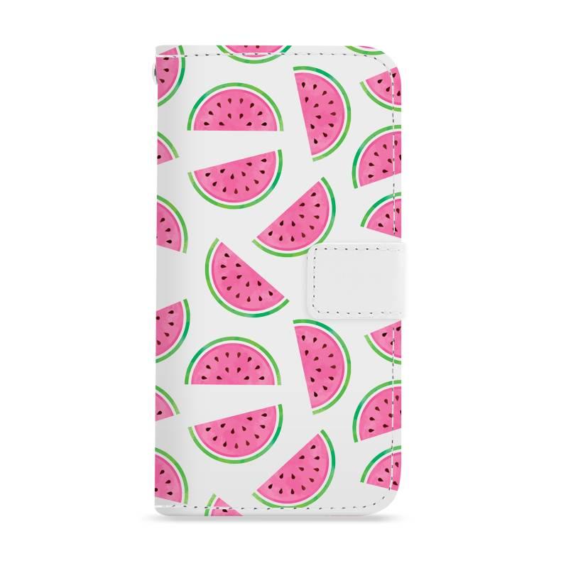FOONCASE iPhone 8 Plus hoesje - Bookcase - Flipcase - Hoesje met pasjes - Watermeloen