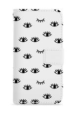 FOONCASE iPhone 7 Plus hoesje - Bookcase - Flipcase - Hoesje met pasjes - Eyes / Ogen