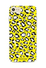 FOONCASE iPhone 7 hoesje TPU Soft Case - Back Cover - WILD COLLECTION / Luipaard / Leopard print / Geel