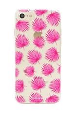 FOONCASE Iphone 7 Case - Pink leaves