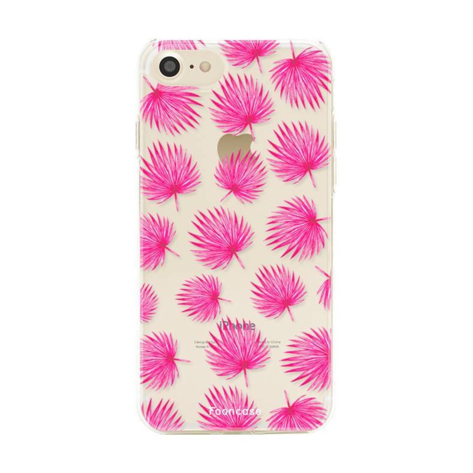 FOONCASE Iphone 7 Handyhülle - Rosa Blätter