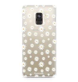 FOONCASE Samsung Galaxy A8 2018 - Gänseblümchen
