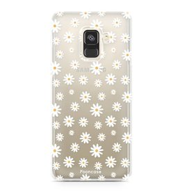 FOONCASE Samsung Galaxy A8 2018 - Madeliefjes
