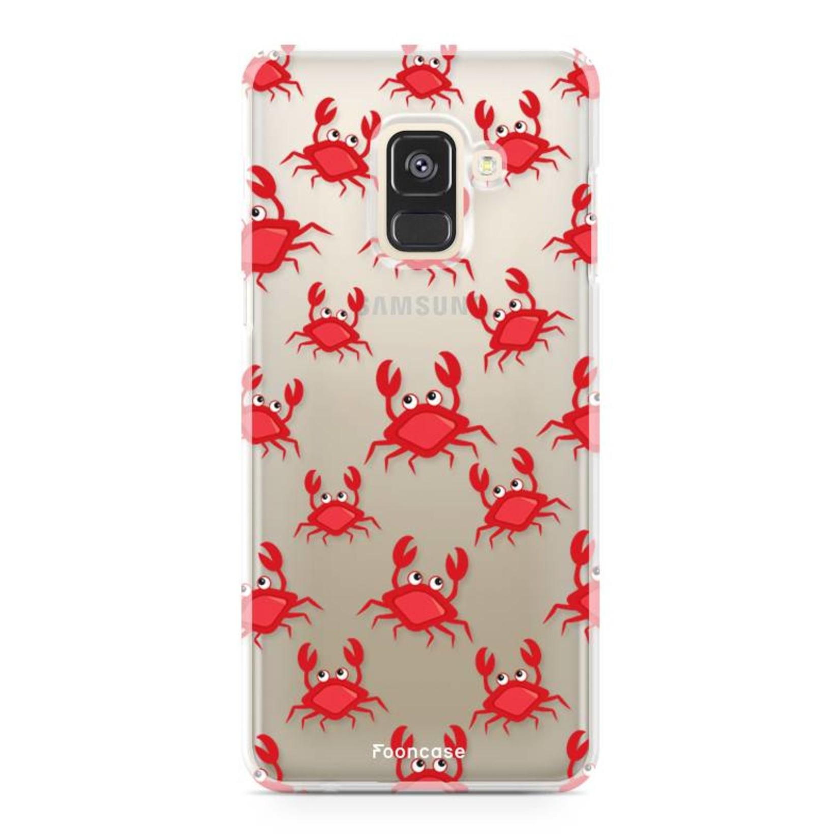FOONCASE Samsung Galaxy A8 2018 hoesje TPU Soft Case - Back Cover - Crabs / Krabbetjes / Krabben