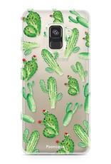 FOONCASE Samsung Galaxy A8 2018 hoesje TPU Soft Case - Back Cover - Cactus