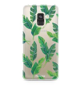 FOONCASE Samsung Galaxy A8 2018 - Banana leaves