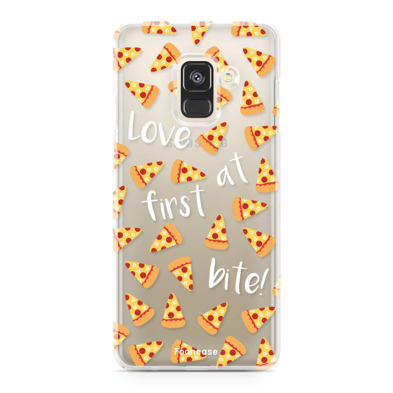 FOONCASE Samsung Galaxy A8 2018 hoesje TPU Soft Case - Back Cover - Pizza / Food