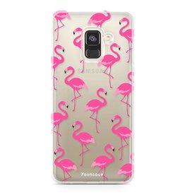 FOONCASE Samsung Galaxy A8 2018 - Fenicottero