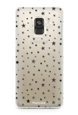 FOONCASE Samsung Galaxy A8 2018 hoesje TPU Soft Case - Back Cover -  Stars / Sterretjes