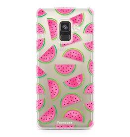 FOONCASE Samsung Galaxy A8 2018 - Watermeloen