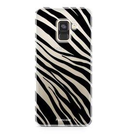 FOONCASE Samsung Galaxy A8 2018 - Zebra