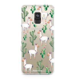 FOONCASE Samsung Galaxy A8 2018 - Lama