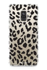 FOONCASE Samsung Galaxy A8 2018 hoesje TPU Soft Case - Back Cover - Luipaard / Leopard print