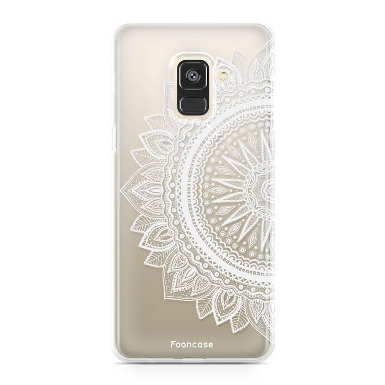 FOONCASE Samsung Galaxy A8 2018 hoesje TPU Soft Case - Back Cover - Mandala / Ibiza