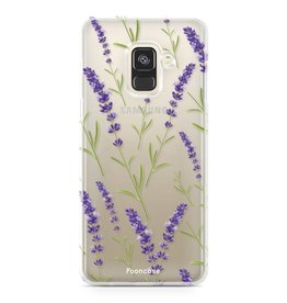 FOONCASE Samsung Galaxy A8 2018 - Purple Flower