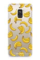 FOONCASE Samsung Galaxy A8 2018 hoesje TPU Soft Case - Back Cover - Bananas / Banaan / Bananen