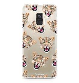 FOONCASE Samsung Galaxy A8 2018 - Cheeky Leopard