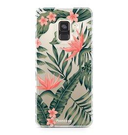 FOONCASE Samsung Galaxy A8 2018 - Tropical Desire