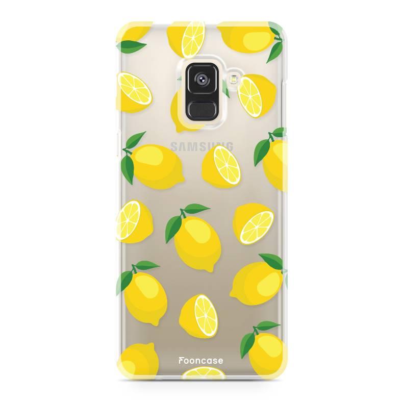 FOONCASE Samsung Galaxy A8 2018 hoesje TPU Soft Case - Back Cover - Lemons / Citroen / Citroentjes