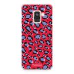 FOONCASE Samsung Galaxy A8 2018 - WILD COLLECTION / Rood