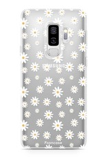 FOONCASE Samsung Galaxy S9 Plus hoesje TPU Soft Case - Back Cover - Madeliefjes