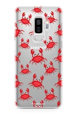 FOONCASE Samsung Galaxy S9 Plus hoesje TPU Soft Case - Back Cover - Crabs / Krabbetjes / Krabben