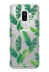 FOONCASE Samsung Galaxy S9 Plus hoesje TPU Soft Case - Back Cover - Banana leaves / Bananen bladeren