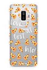FOONCASE Samsung Galaxy S9 Plus hoesje TPU Soft Case - Back Cover - Pizza / Food