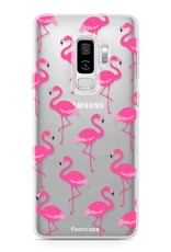 FOONCASE Samsung Galaxy S9 Plus hoesje TPU Soft Case - Back Cover - Flamingo
