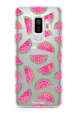 FOONCASE Samsung Galaxy S9 Plus hoesje TPU Soft Case - Back Cover - Watermeloen