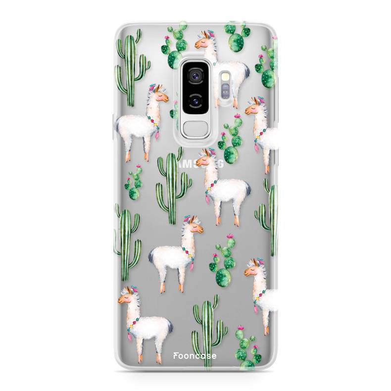 FOONCASE Samsung Galaxy S9 Plus hoesje TPU Soft Case - Back Cover - Alpaca / Lama