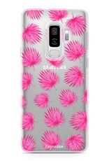 FOONCASE Samsung Galaxy S9 Plus Handyhülle - Rosa Blätter