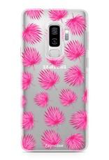 Samsung Samsung Galaxy S9 Plus Handyhülle - Rosa Blätter