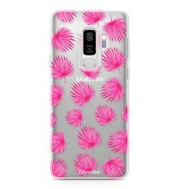 FOONCASE Samsung Galaxy S9 Plus - Pink leaves